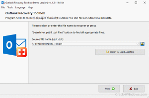 Outlook Recovery ToolBox Crack 4.7.15.77 With Activator Latest 2021